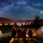 Camping under a starry night