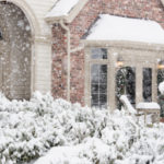 House in snow storm